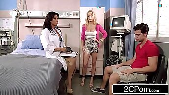 Busty stepmom and doctor meet in a hotel