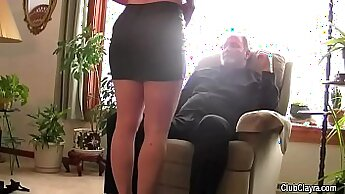 Cheating wife humiliates her new husband with her tight body