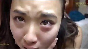 Asian schoolgirl gets anal hardcore fuck