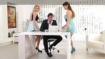 Bossy office secretary gets herself off