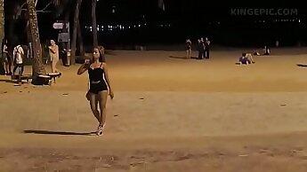 BBW Amateur - Thai Feet in the Beach