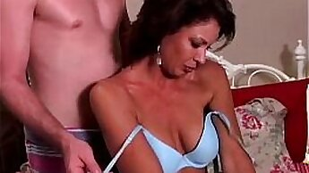 Classy milf showering at the prom