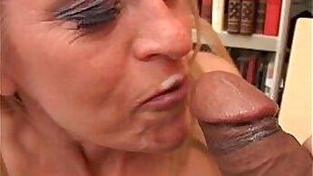 Bailey fucks masseur and swallows cum