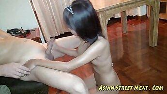 Asian Girl Gets Cash for Multiple Anal Dances