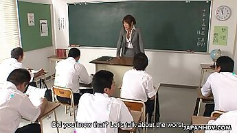 Asian teacher makes hot tgirl blowjob