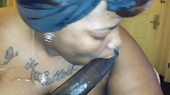 Chubby Ebony Lady Cock Sucking