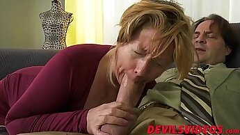 Chubby granny gets fucked in the ass