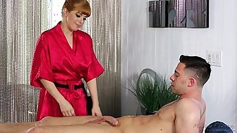 Anal sex with redhead after massage